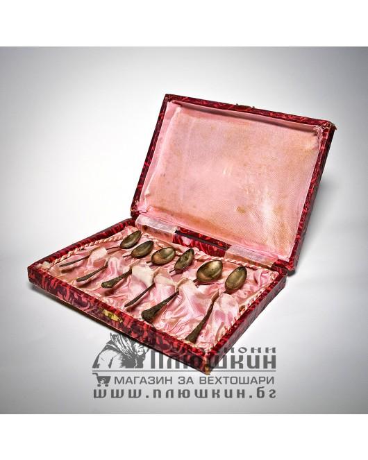Silver teaspoons with original box